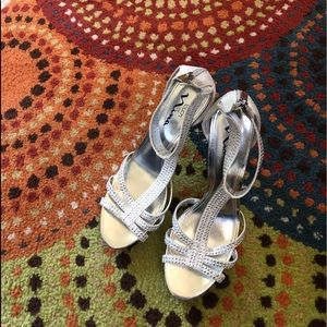 Dressy Silver High-heel Sandals